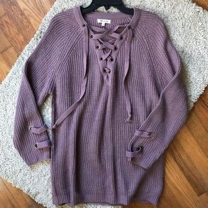 cedfad3062 NEW Miracle lace up sweater